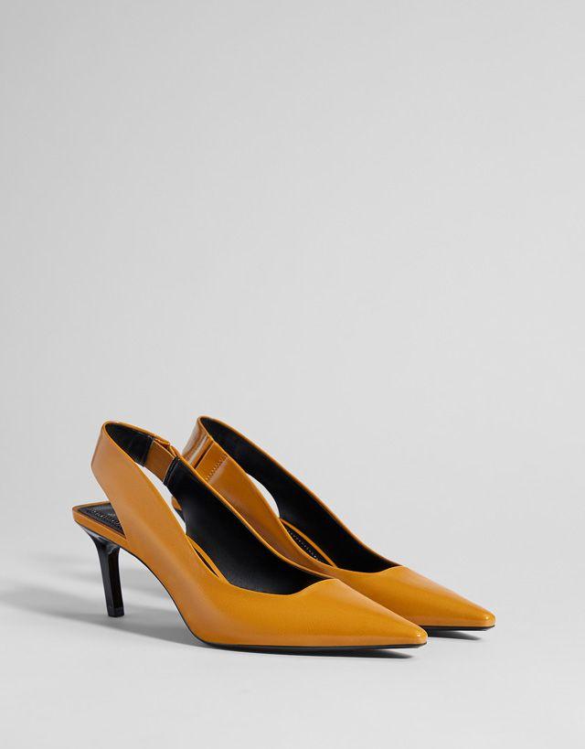Buty Bez Piety Na Srednim Obcasie Heels Shoes Kitten Heels