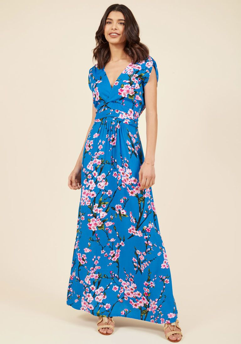 9b2b1f327071 This comes in four colors, and I like them all. Feeling Serene Maxi Dress  in Cherry Blossoms