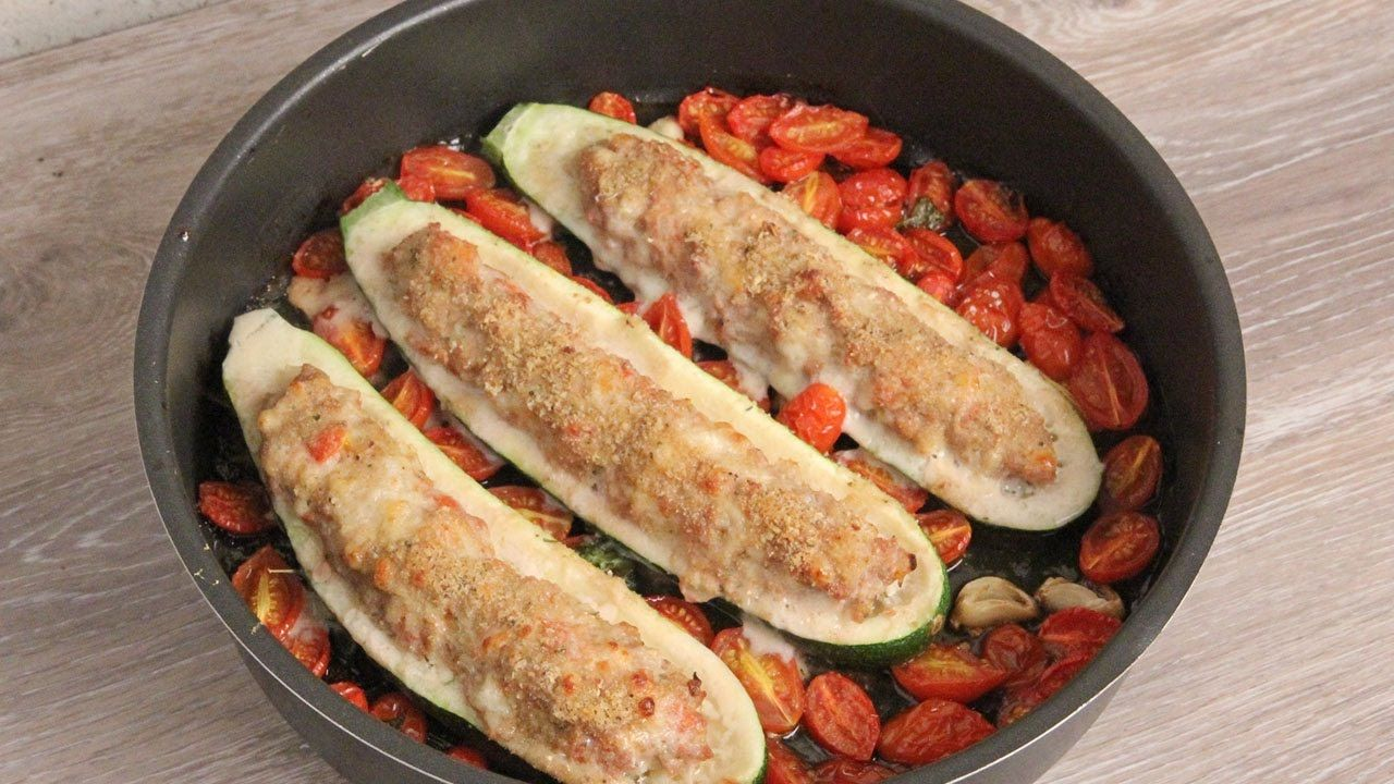 Chicken parm stuffed zucchini boats episode 1110 yummy 2 chicken parm stuffed zucchini recipe laura in the kitchen internet cooking show starring laura vitale forumfinder Image collections