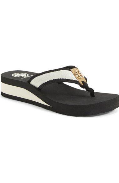 22db3dbe9ce07a Tory Burch  Frankie  Wedge Sandal (Women) (Nordstrom Exclusive) available  at…