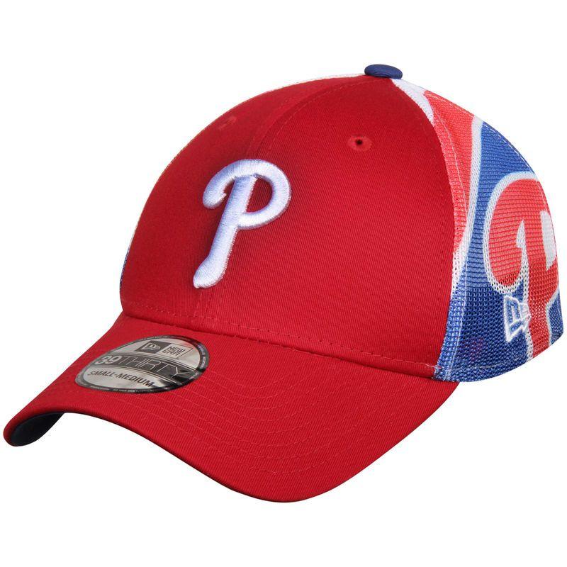 promo code 8750d 11b03 Philadelphia Phillies New Era Logo Wrapped 39THIRTY Flex Hat - Red