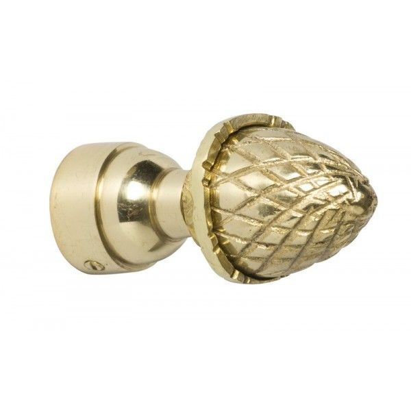 Curtain Fittings Acorn Finial Polished Brass 25mm Polished