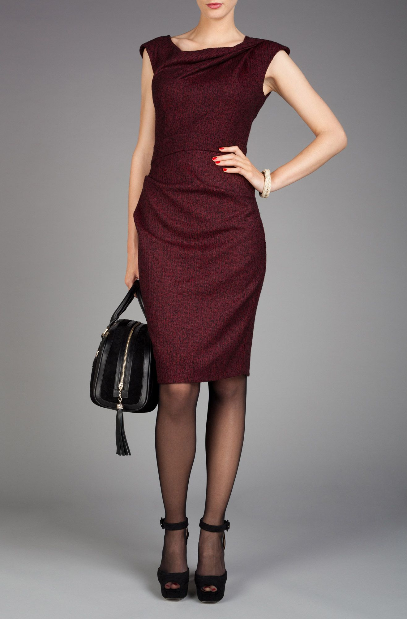 Axara Paris - Bordeaux dress (Fall 2012)