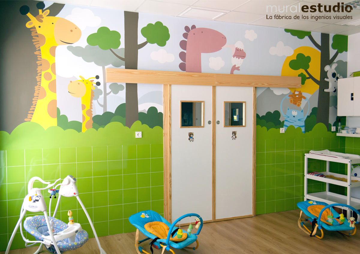 Muralestudio Murales Infantiles Decoraciones De Guarderia Diseno De Guarderia Decoracion De Biblioteca