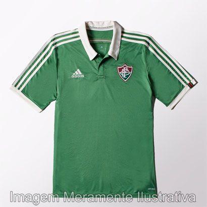 46b920a5b5 Camisa Fluminense III 2015 s nº Torcedor Adidas Masculina - Verde e Branco