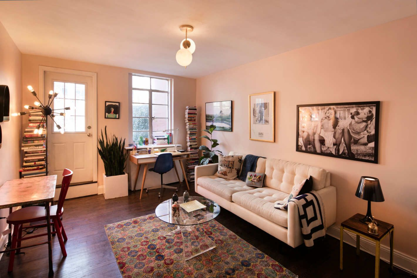 How I Rescued A Rental With Bad Light In 2020 Dark Living Rooms