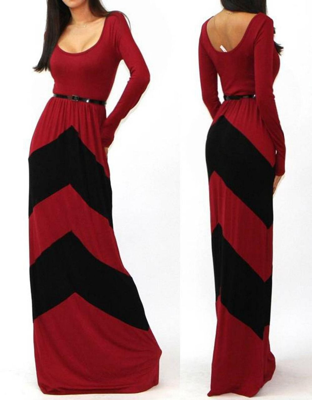 Dower me women colorful striped long dresses maxi dress fashion
