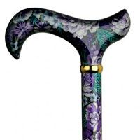 Ladies Walking Canes Decorative 5004 Purple Pansie Walking Cane  Walking Aids With Class  Pinterest