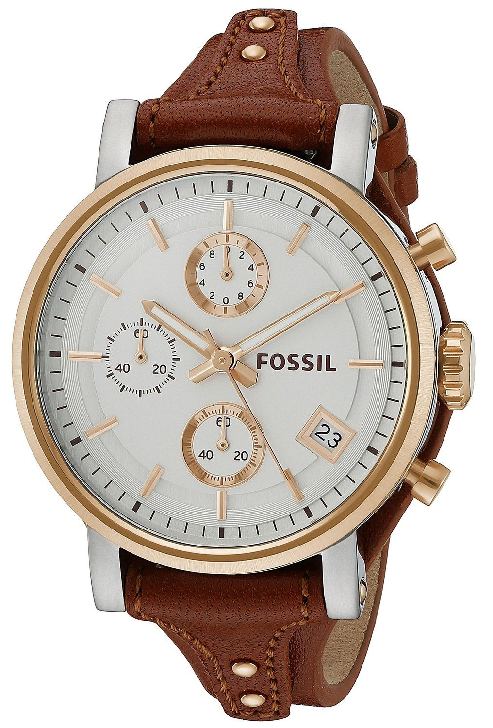 1678dc5ca4aa Fossil Original Boyfriend Chronograph Leather Watch -- Check this awesome  watch by going to the link at the image.
