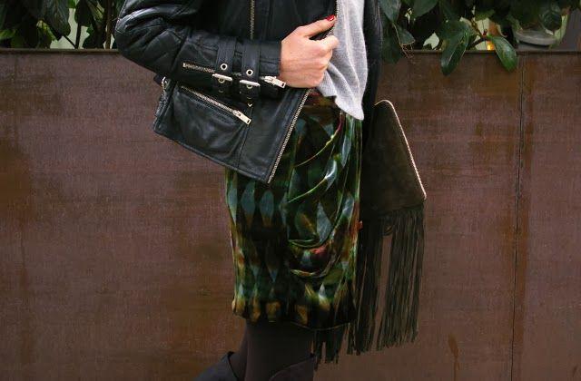 Style by Bru: velvet skirt <3