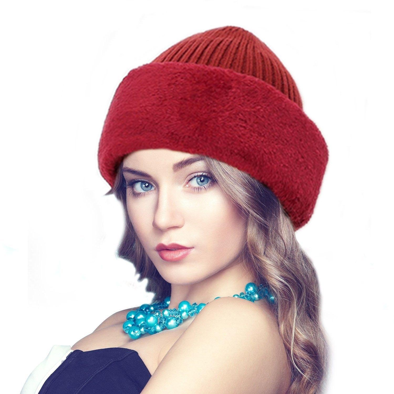0a9e7395586 Winter Warm Knitted Wool Fleece Lined Balaclava Ski Mask - Red -  CU1887RC6WN - Hats   Caps