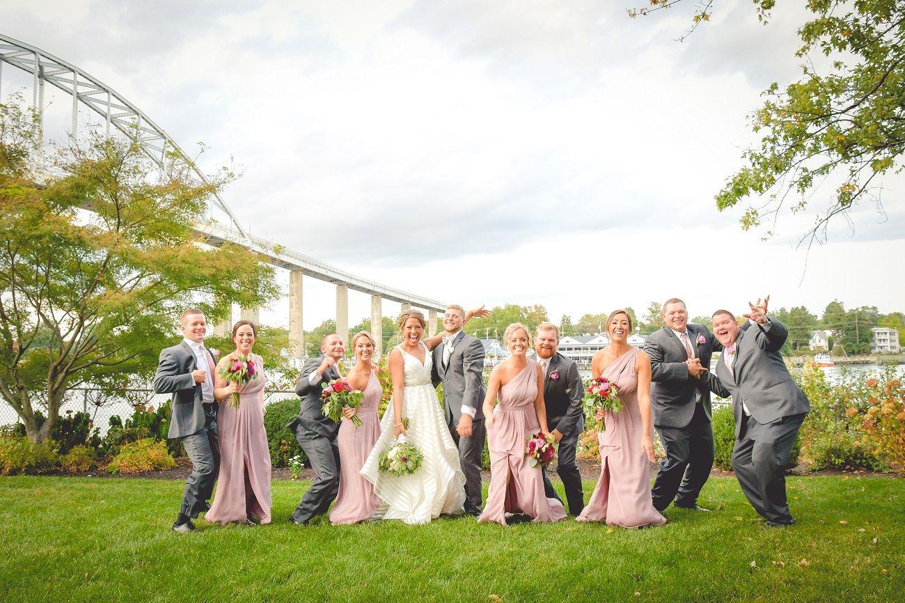 Beautiful fall wedding in Chesapeake City MD. A great
