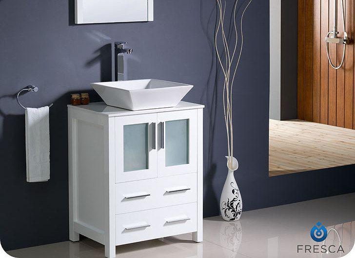 955 00 Torino 24 Inch White Vessel Vanity Fvn6224wh Vsl By Fresca
