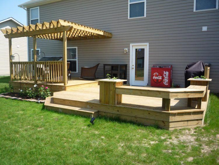 12x12 Deck Picture Portfolio Fixs Project Pergolaaccessories Small Backyard Decks Decks Backyard Deck Designs Backyard