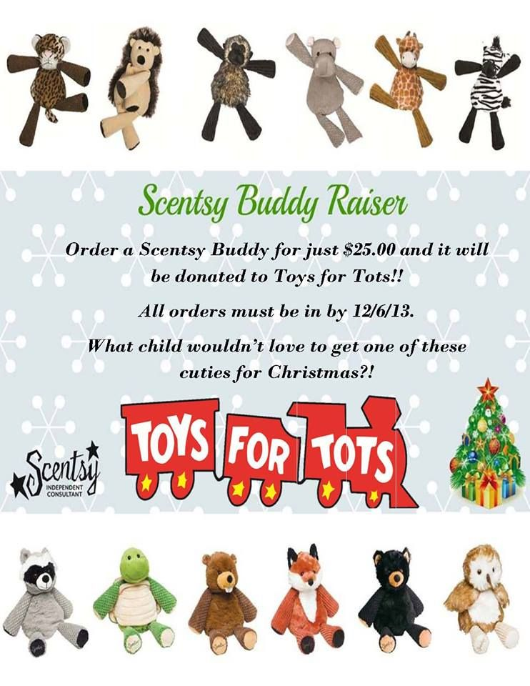 Toys For Tots Raffle : Scentsy buddy drive email me to donate a toys