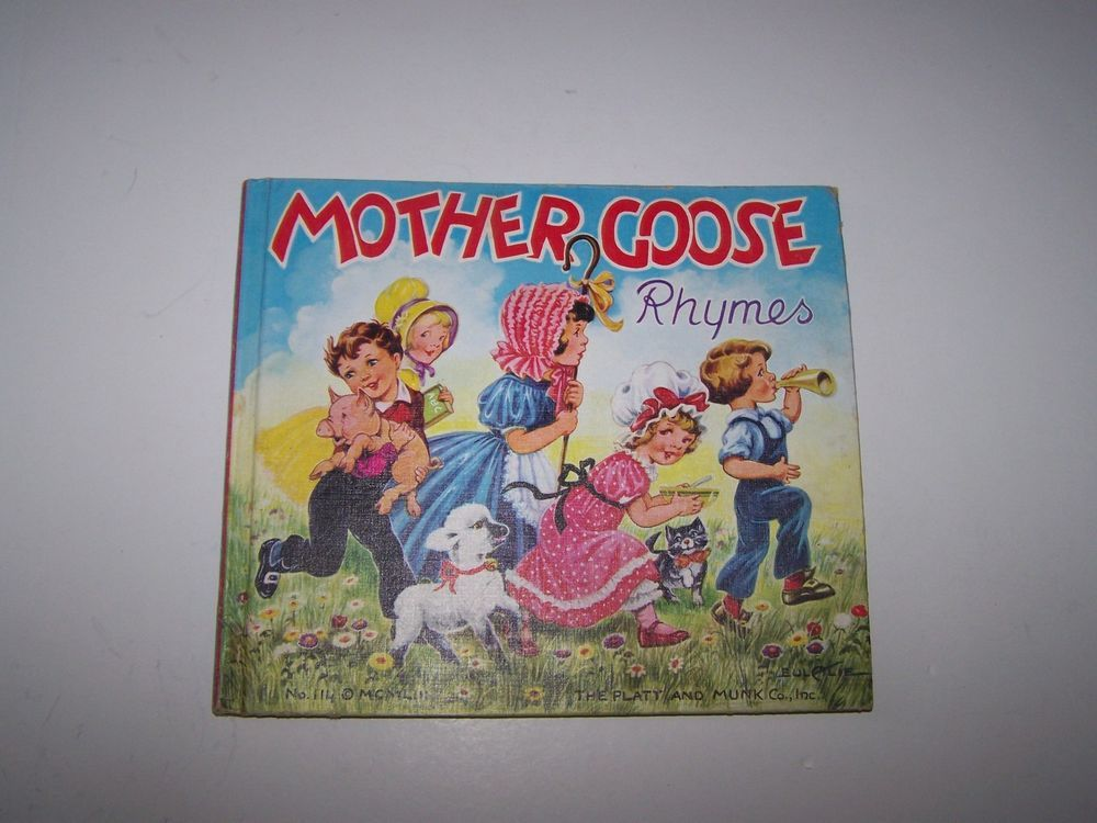 MOTHER GOOSE RHYMES NO. 114 COPYRIGHT 1953, THE PLATT AND MUNCK CO. INC