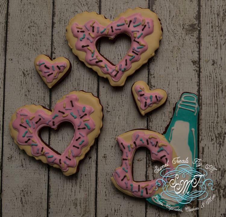 Donut heart cookies  https://www.sweettreatsbym.com