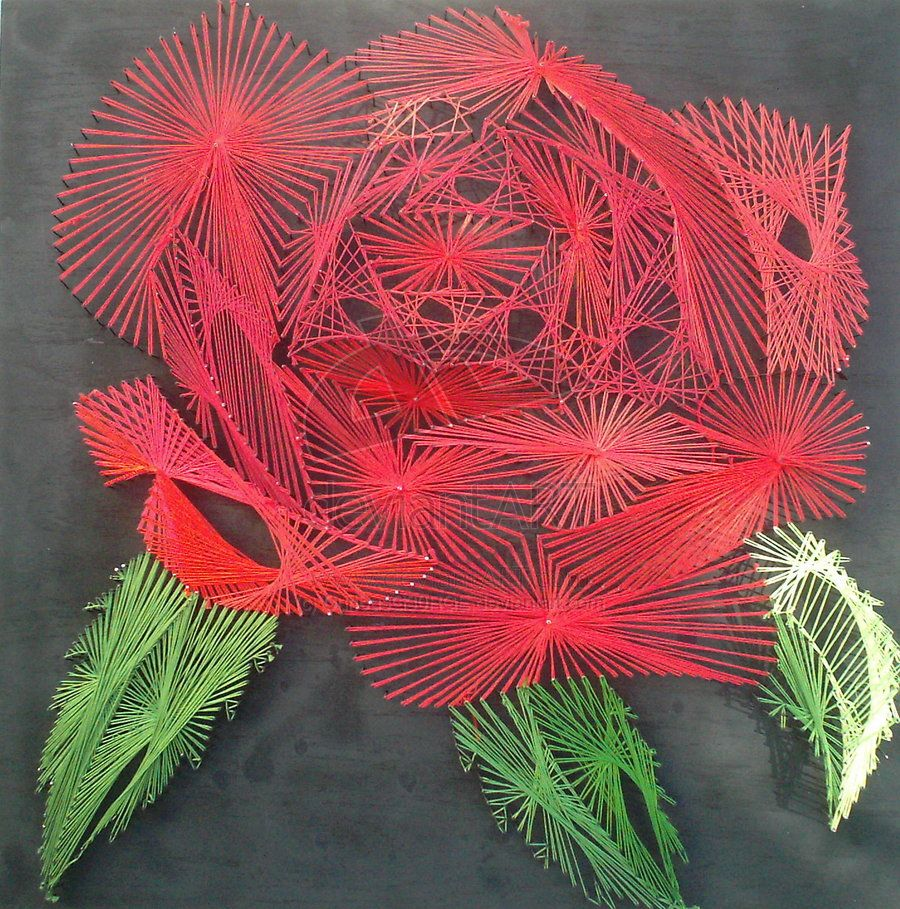 String art patterns and instructions string art rose for String craft patterns