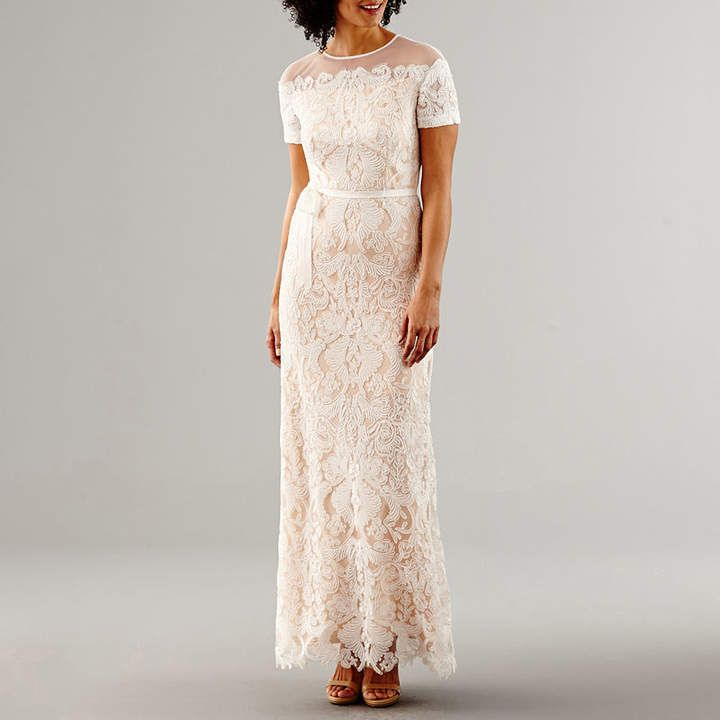 MELROSE Melrose Short Sleeve Lace Wedding Gown #jcpenney