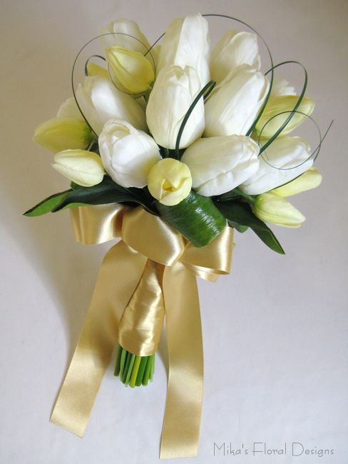 Tulip And Lily Arrangement Tulips Round Bouquet Large And