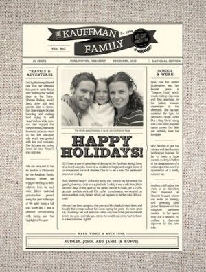 creative holiday family letters