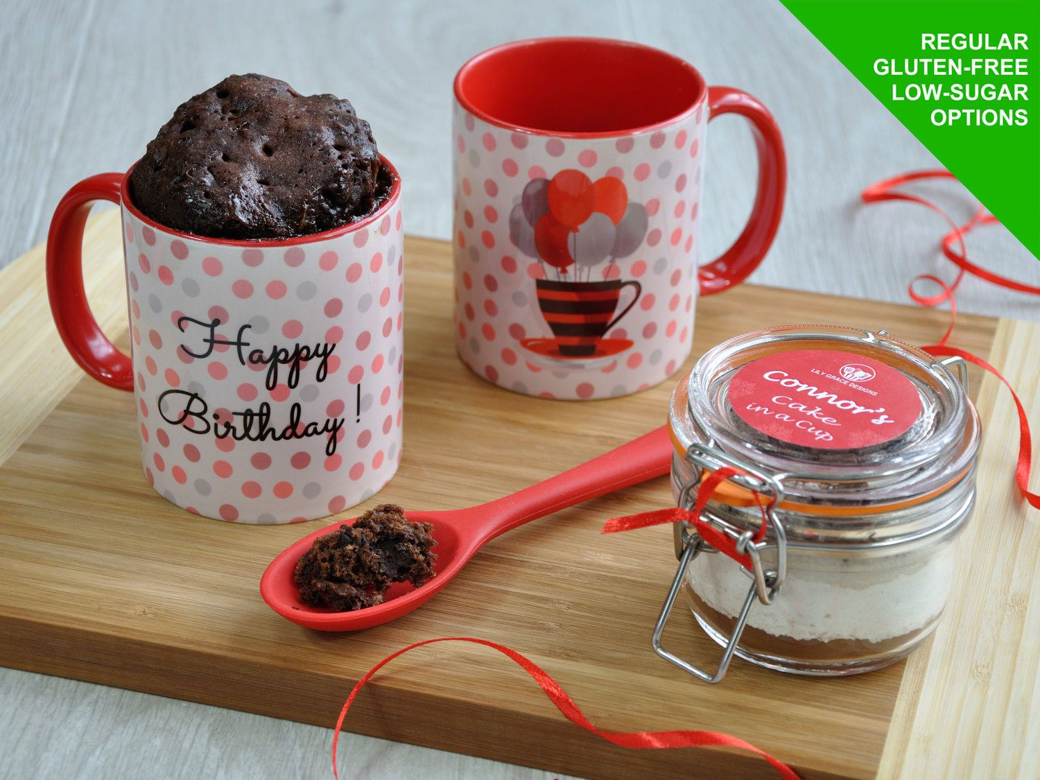 Baking Kit Happy Birthday Gluten Dairy Free Mug Cake For Him Gift Her Sweet Tooth Microwave Chocoholic