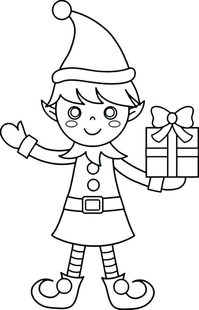 Elf On The Shelf Coloring Pages Coloring Elf Elfontheshelfdrawing Pages Shelf Malarbocker Julpyssel Med Toarullar For Barn