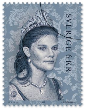There was even a postage stamp of the cut steel tiara worn by Crown Princess Victoria in circulation.
