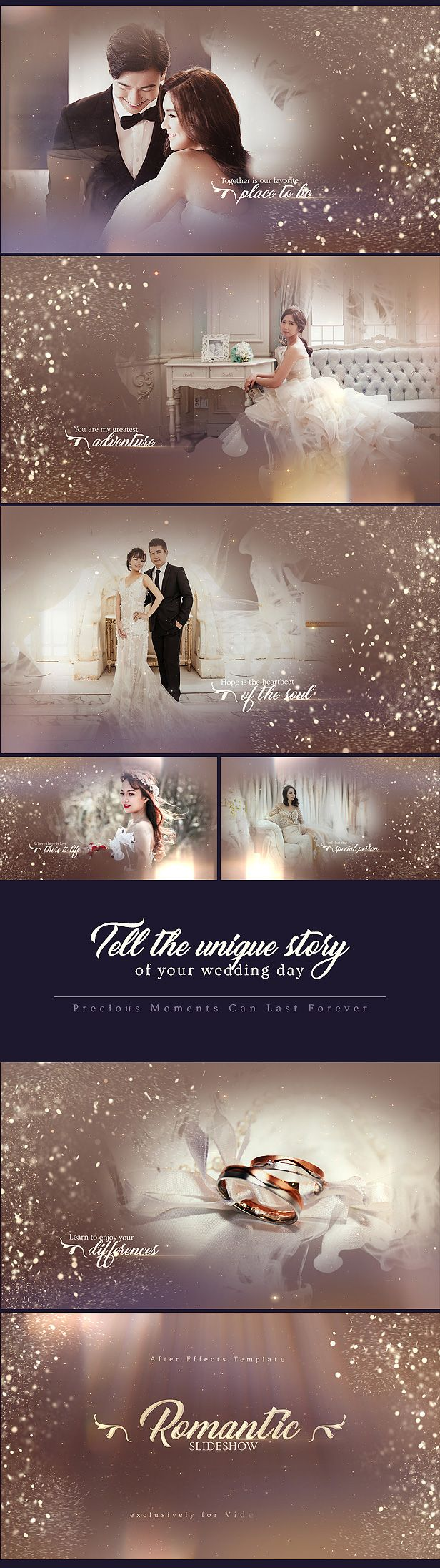 Create the most beautiful wedding video with shimmering