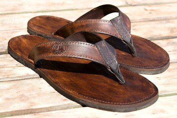 ARRIGO BELLO Chanclas Hombre Suela de l/átex Sandalias Verano Flip Flop Plantillas de Cuero Piscina Playa Talla 41-46