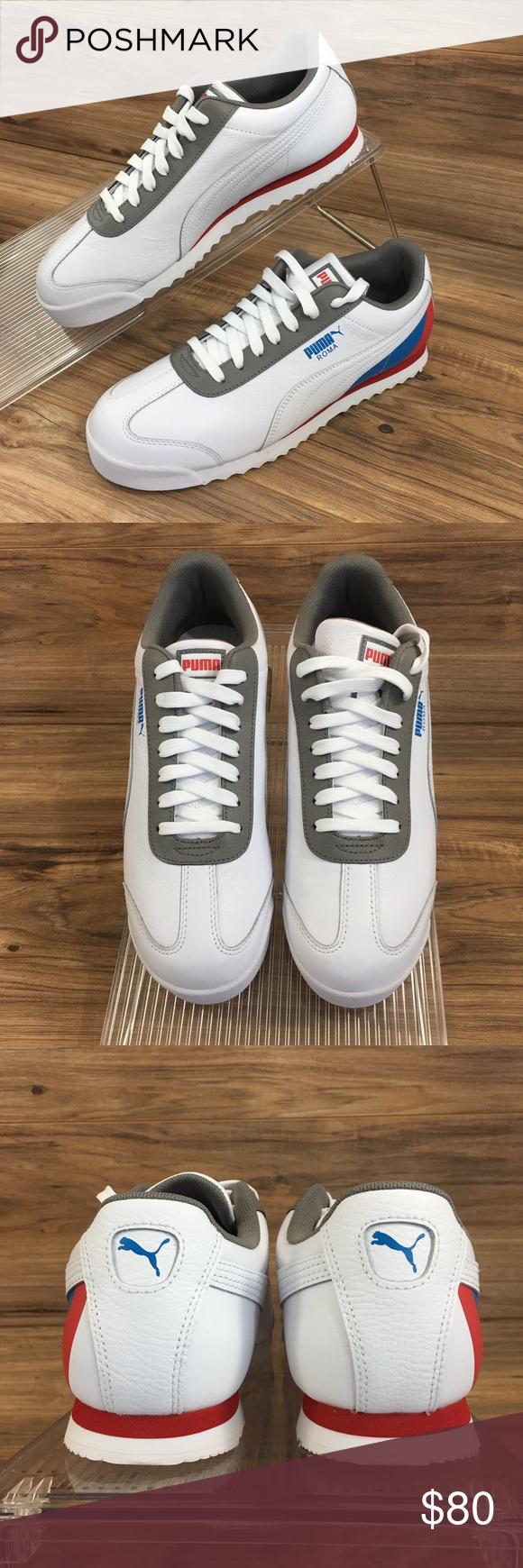 acoplador Desgracia presupuesto  Puma Mens Roma Retro Sports Shoes White New | Retro sport, Puma mens, Sport  sneakers