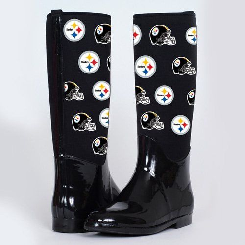 watch 8060c f2bb8 Cuce Shoes Pittsburgh Steelers Womens Enthusiast II Rain ...