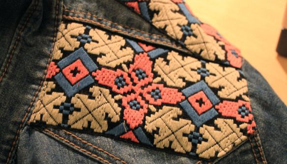 Denim Embroidery Shirt