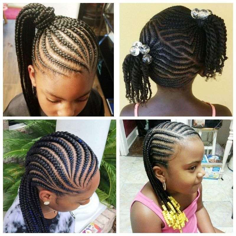 Sweet Cornrows For Cute Little Girls | Cornrows for little girls, Kids braided hairstyles ...