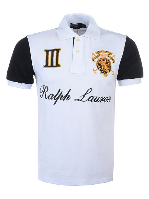 black and white ralph lauren polo