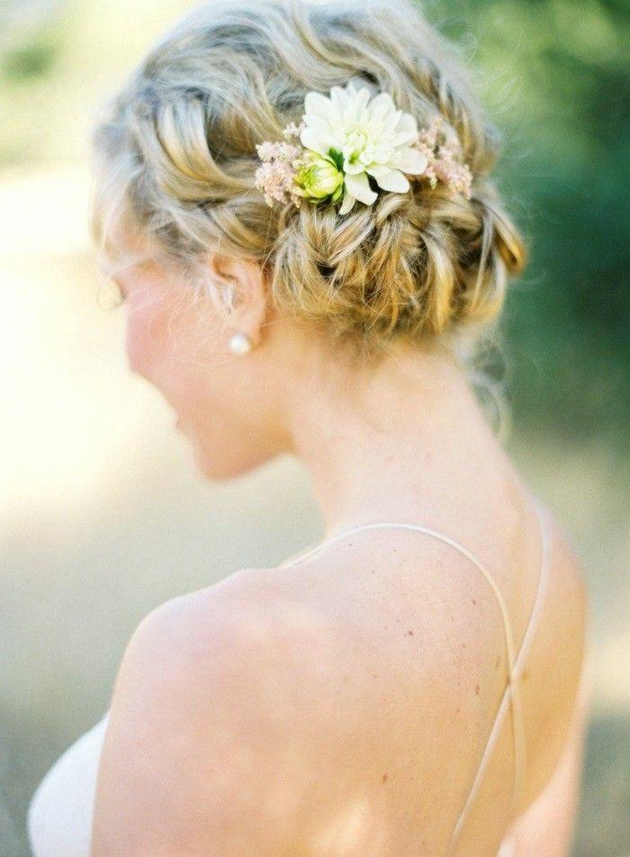 brautfrisuren zopf mit blumen | brautfrisuren - bridal hairstyles