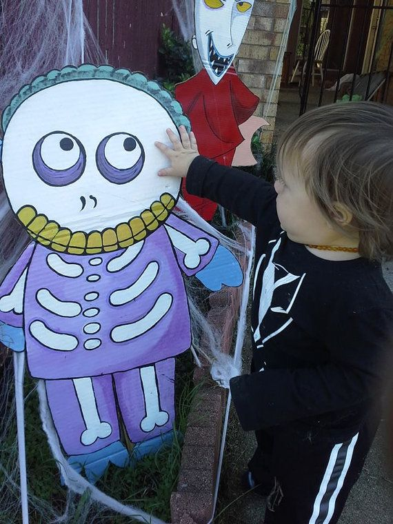nightmare before christmas lawn decorations by face2facecustoms halloween pinterest christmas lawn decorations lawn decorations and halloween house - Nightmare Before Christmas Lawn Decorations