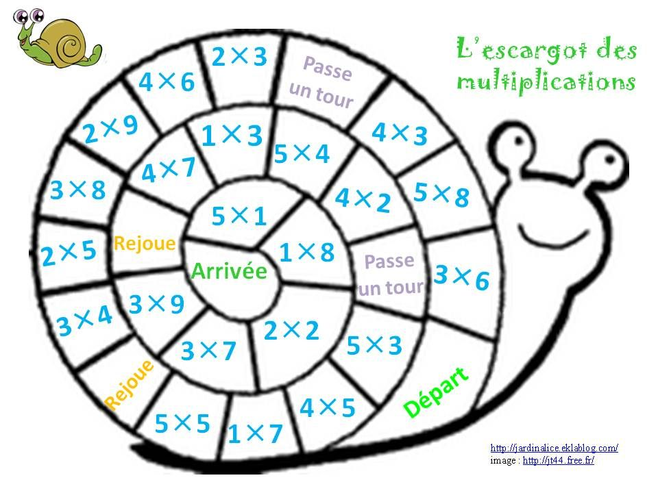 Reviser les tables de multiplications vivre ensemble for Jeu sur les multiplications