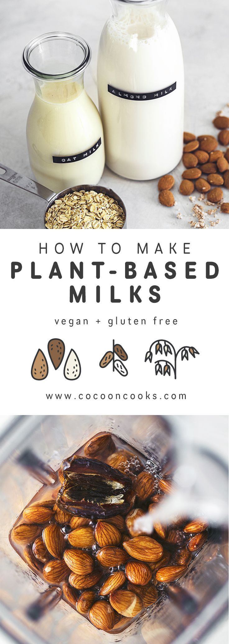 How to make Plant-based Milk (Almond & Oat)