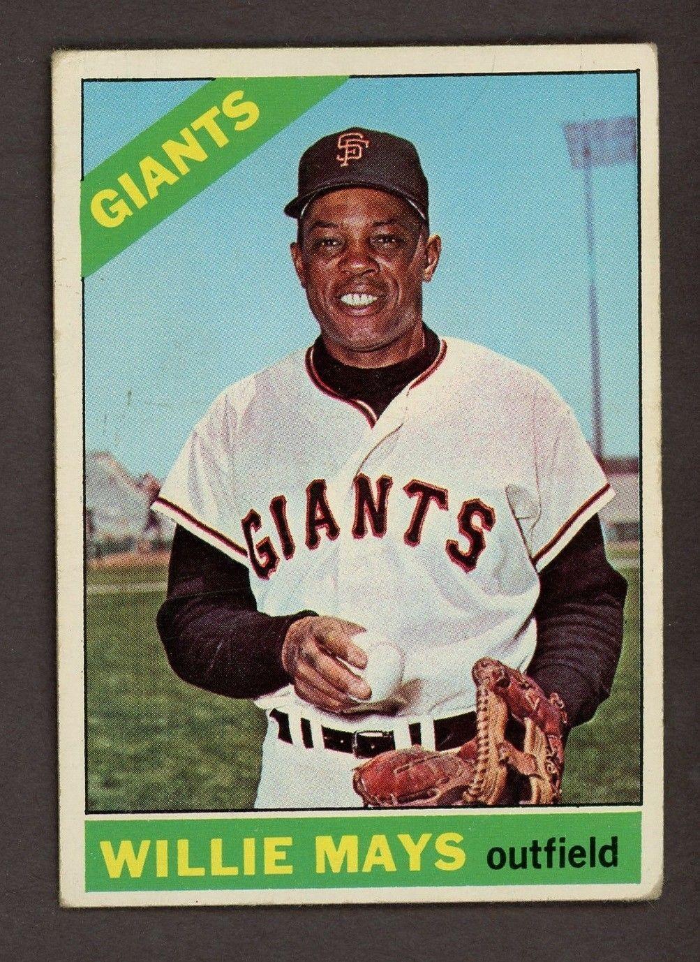 1966 topps 1 willie mays san francisco giants hof