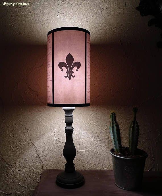 Evil Flowers Fleur De Lys Light Pink Lampshade Lamp Shade