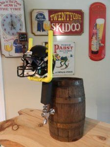 IOWA HAWKEYES BEER TAP HANDLE KEGERATOR . $79.99. Beer tap handle, great for tailgating or for your home bar.. WELCOME SPORTS FANS!!!  This is a FOOTBALL Model Beer Tap Handle  *****CUSTOM  FOOTBALL BEER TAP HANDLE*****   This Tap Looks Great in any Sports Bar or at any Home Party!!!!!  DIMENSIONS: This is an 'Oversized' Beer Tap Handle that will be sure to grab the attention of guests and party goers on your  Kegerator or Bar Tap in your home or at your tailgate!...