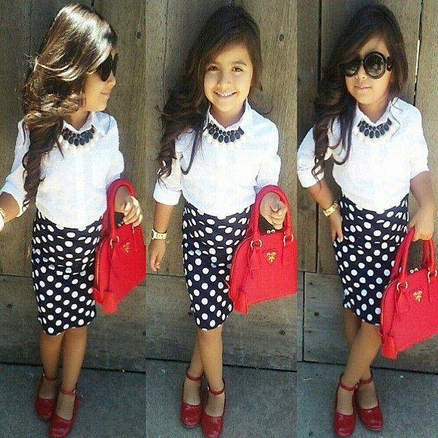 ❤️Poka-dot pencil skirt from # - ShareIG How Precious Is She ?! ❤️Poka-dot Pencil Skirt From