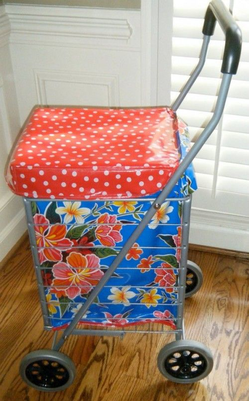 Making A Flea Market Shopping Cart Liner Cool Diy
