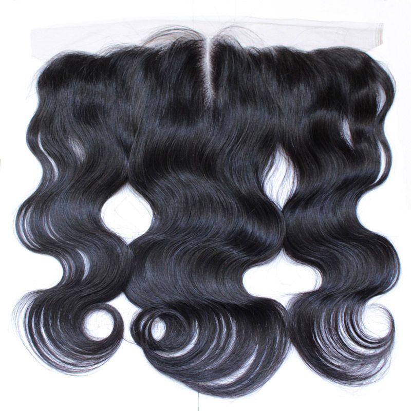 Lace frontal closure body wave swiss lace closure 13*4 inches Brazilian virgin hair 60-90g per