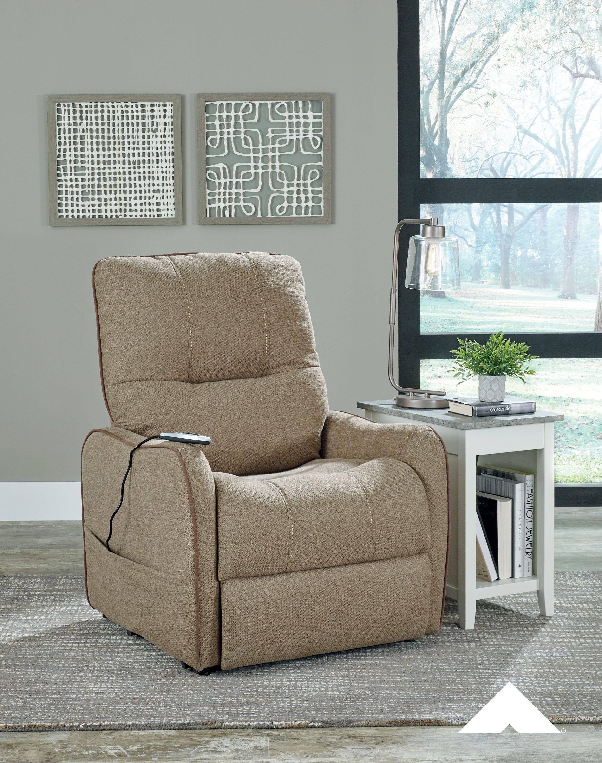 Enjoy Latte Power Lift Recliner By Ashley Furniture