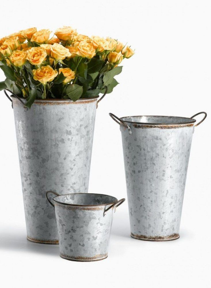 Zinc Flower Bucket | Flower vases, Flower and Gardens on zinc metal, zinc desk, zinc patina, zinc car, zinc basket, zinc chest, zinc dog, zinc table,
