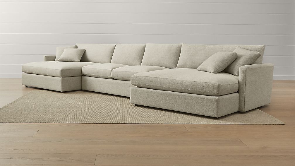 Best Lounge Ii 3 Piece Double Chaise Sectional Sofa Double 640 x 480