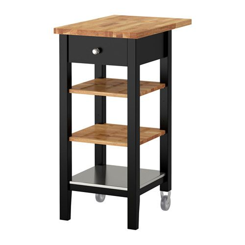 IKEA   STENSTORP, Kitchen Cart, Gives You Extra Storage In Your Kitchen.Two  Adjustable Shelves In Solid Oak With Groves To Keep Bottles In Place.