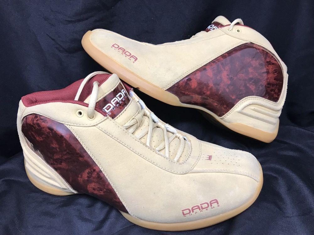 2ede67986b57 Preowned DADA SUPREME Wheat Brown Wood Grain CDubbz 10.5 mens Chris Webber   DadaSupreme  BasketballShoes